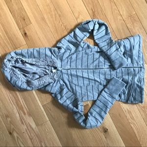 Lululemon movement hoodie - gray stripe 4 Cinch